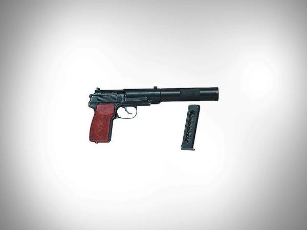 Самозарядный пистолет для бесшумной и беспламенной стрельбы ПБ - 9-мм