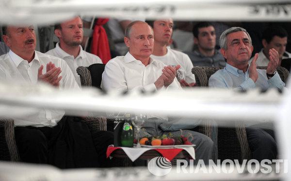 В.Путин посетил турнир по боевому самбо ПЛОТФОРМА S-70 в Сочи