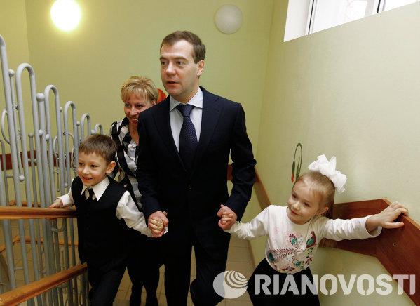 Дмитрий Медведев посетил московский детский сад