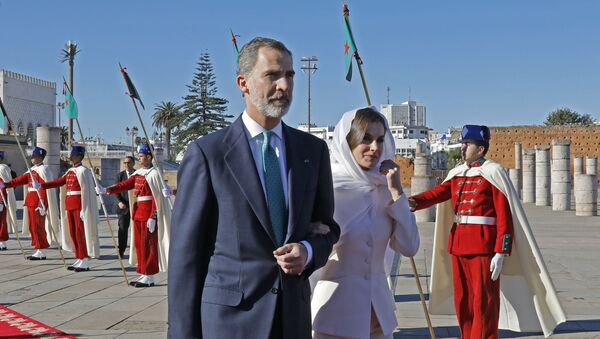 Le roi d'Espagne Philippe VI et son épouse Letizia Ortiz au Maroc, 14 février 2019 - Sputnik France
