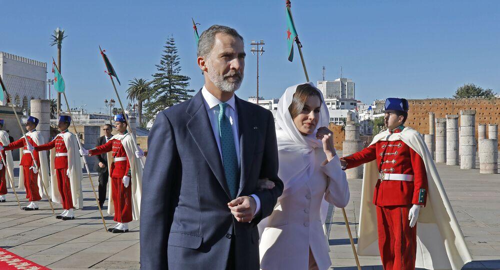Le roi d'Espagne Philippe VI et son épouse Letizia Ortiz au Maroc, 14 février 2019
