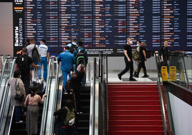 Un aéroport de Moscou
