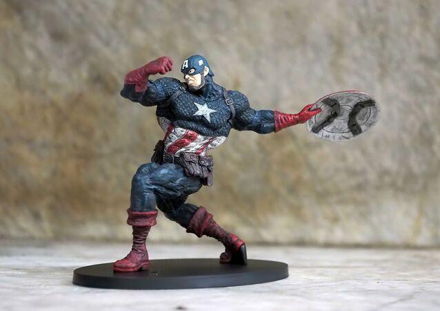 Une figurine de Captain America
