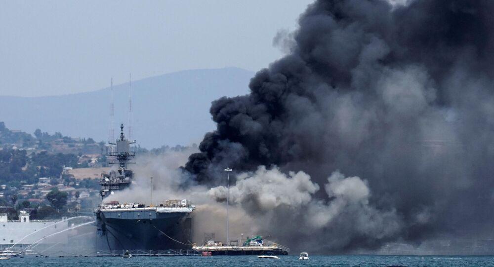 Incendie à bord de l'USS Bonhomme Richard