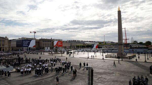 Préparation pour une cérémonie militaire ce 14 juillet 2020 sur la Place de la Concorde - Sputnik France