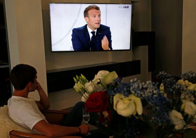 Emmanuel Macron, le 14 juillet 2020