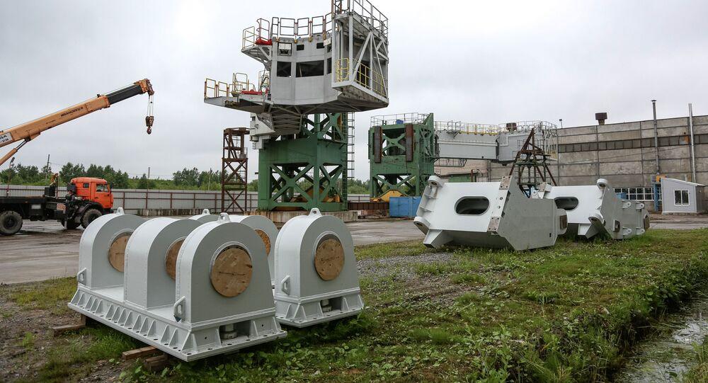 Travaux de construction d'un pas de tir pour les lanceurs Angara au cosmodrome Vostotchny (archive photo)