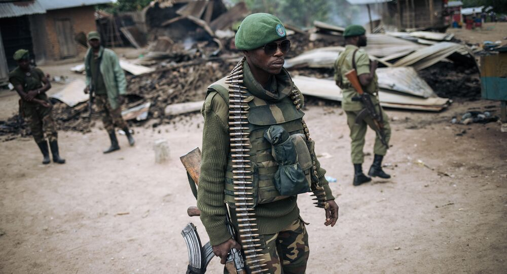 Un soldat des forces armées de la RDC (FARDC)