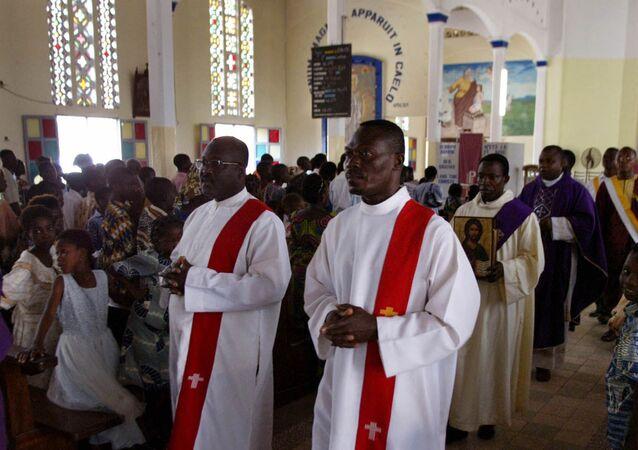Les membres de la congrégation de l'Immaculée Conception, à Lomé