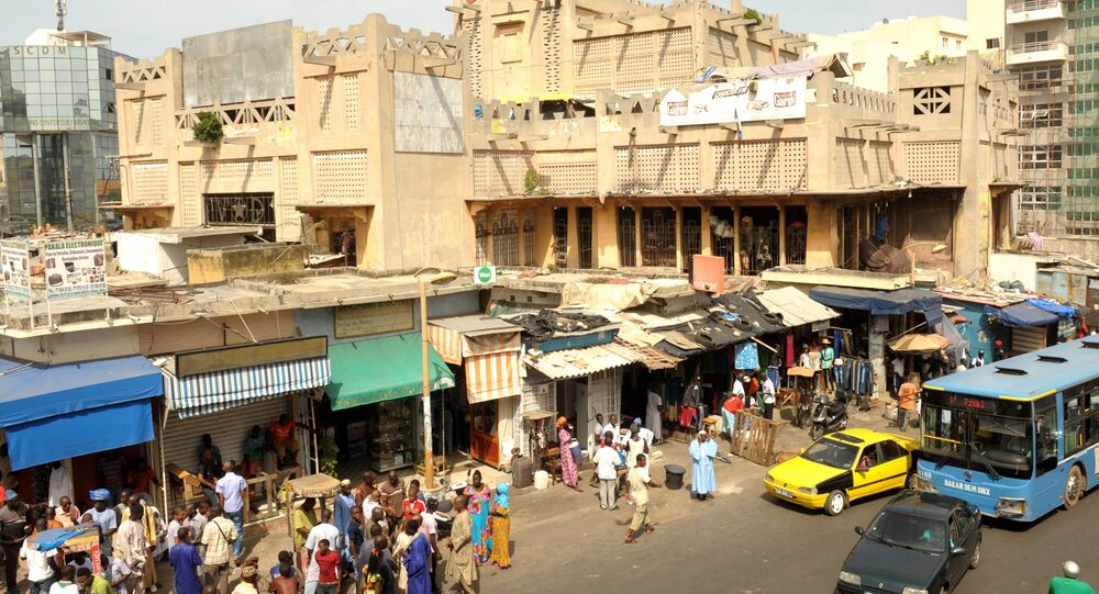Le marché de Sandaga à Dakar, Sénégal.