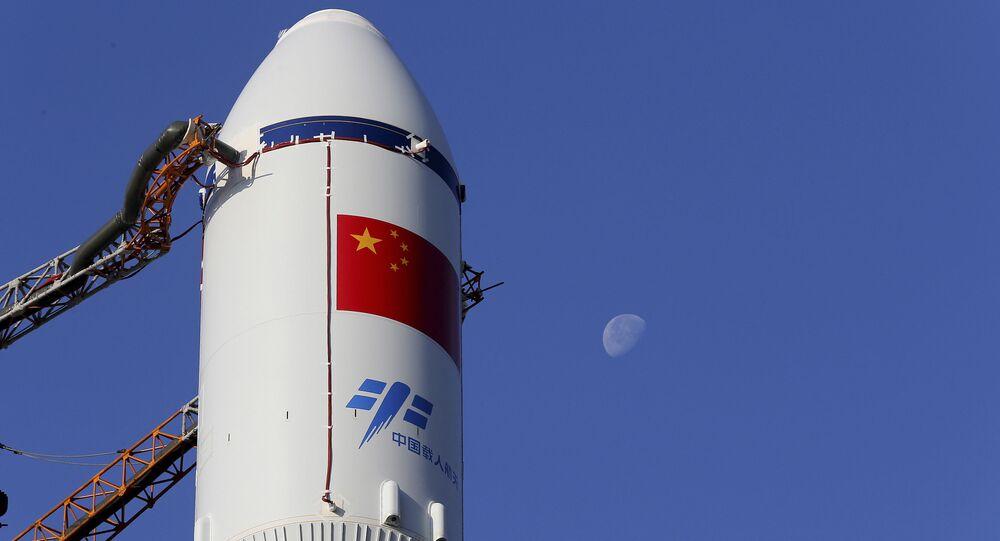 Une fusée chinoise à la base de Wenchang image d'illustration