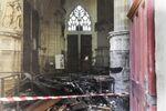 L'intérieur de la cathédrale de Nantes après l'incendie