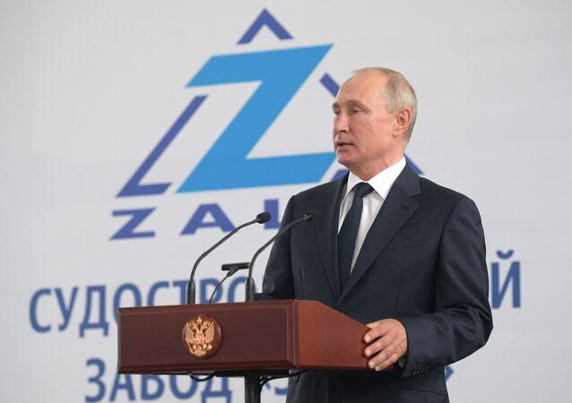 Visite de travail de Vladimir Poutine à Kertch