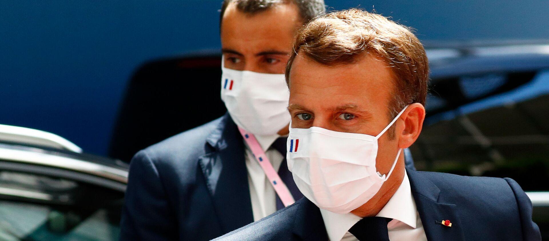 Emmanuel Macron à Bruxelles pour le Conseil européen, 20 juillet 2020 - Sputnik France, 1920, 28.07.2020