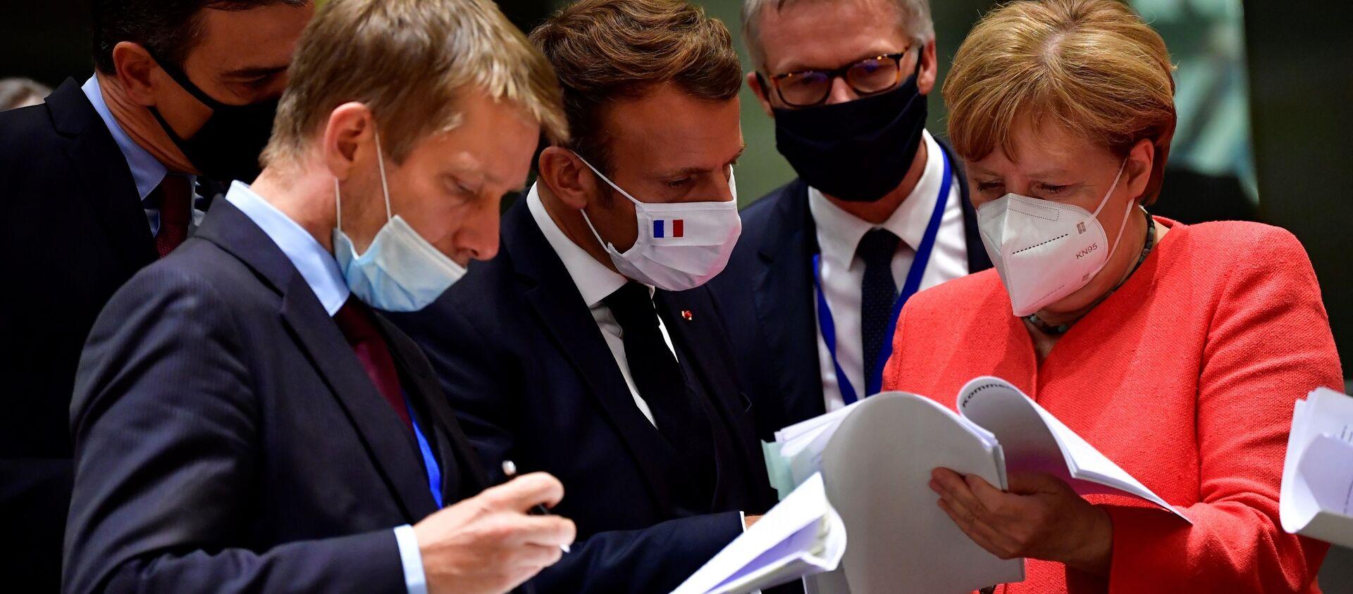 Conseil européen à Bruxelles, le 20 juillet 2020 - Sputnik France, 1920, 25.06.2021
