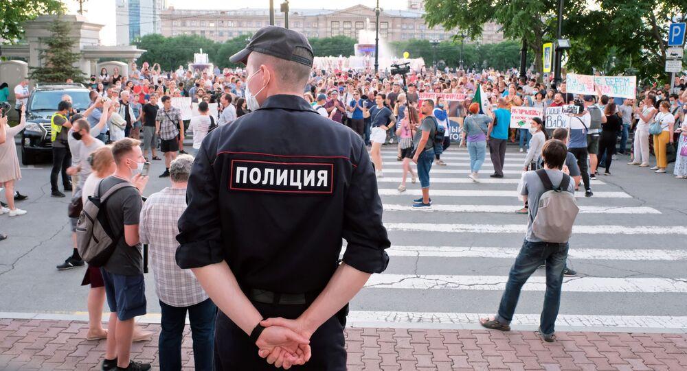 Un nouveau rassemblement non autorisé après l'arrivée à Khabarovsk du gouverneur par intérim Mikhaïl Degtyarev