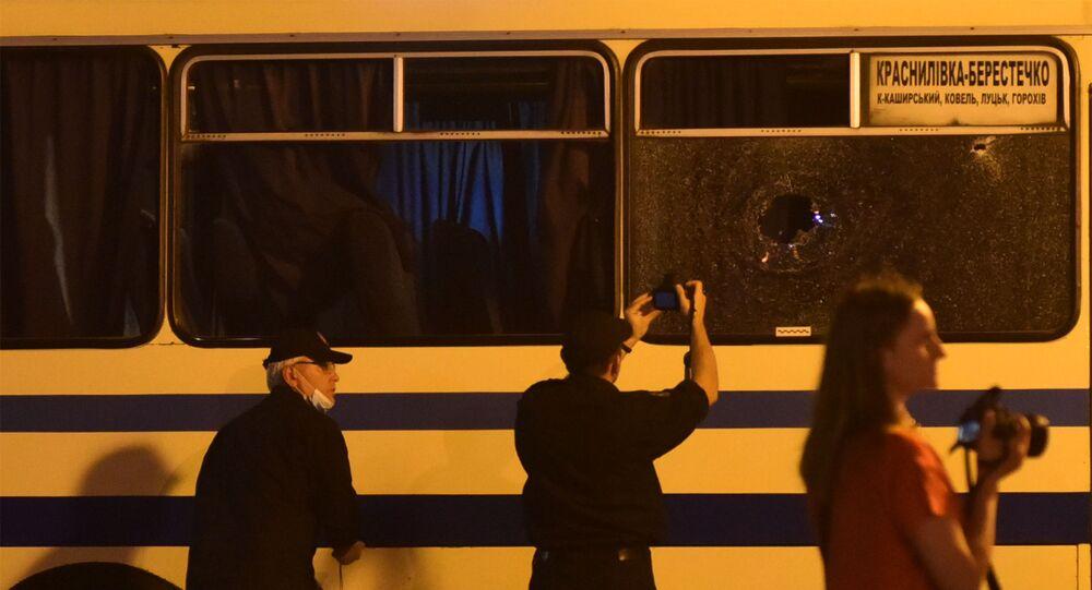 Prise d'otages à Loutsk, en Ukraine
