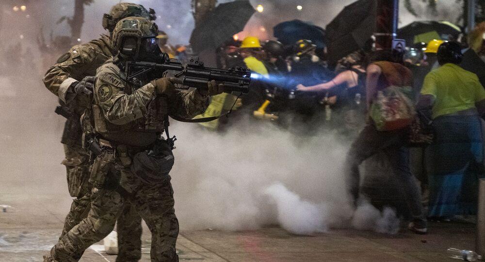 Affrontements entre policiers et manifestants à Portland (archive photo)