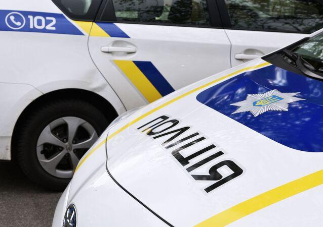 Une voiture de police ukrainienne