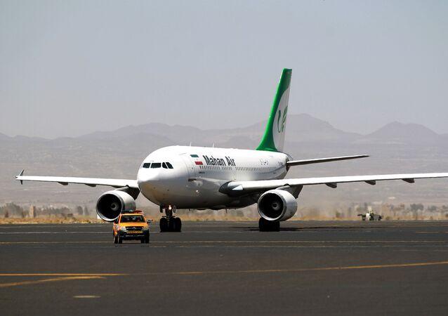 un avion de la compagnie aérienne Mahan Air, image d'illustration