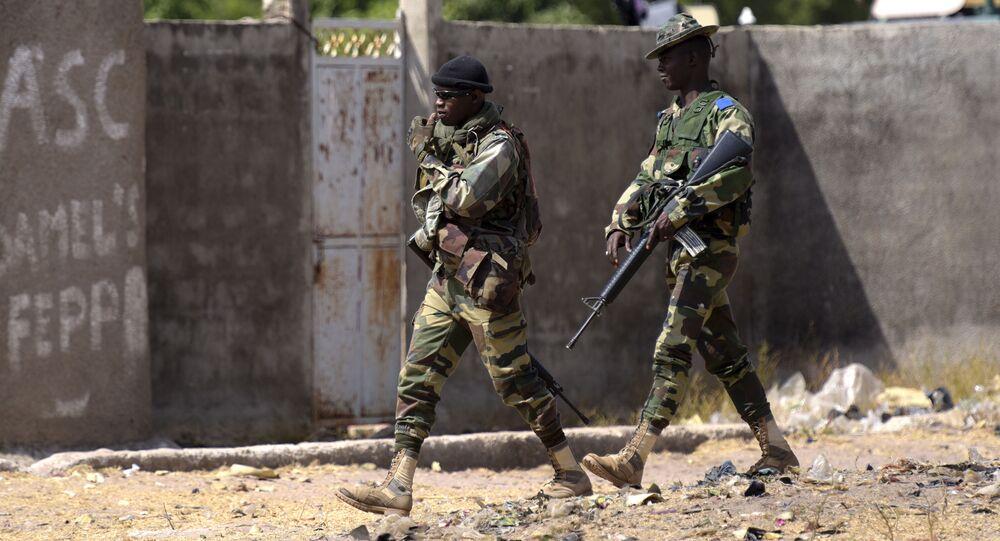 Des soldats sénégalais