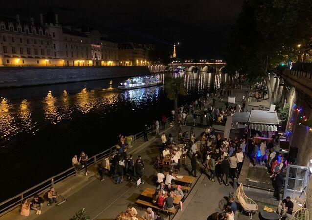 Paris le soir, Pont au Change, 24 juillet 2020
