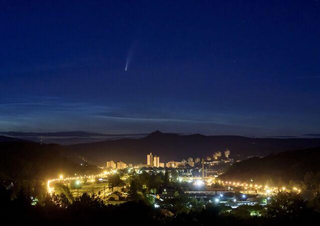 La comète Neowise au-dessus de la Hongrie