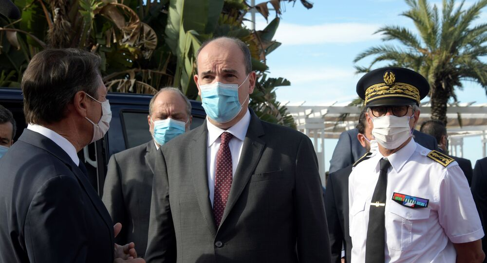 Jean Castex lors de sa visite à Nice, le 25 juillet