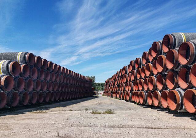 Des tuyaux pour le gazoduc Nord Stream 2 (archive photo)