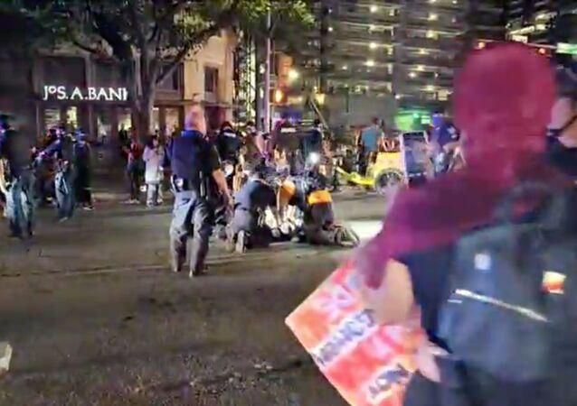 Un individu a été tué à Austin, au Texas, pendant une manifestation contre les violences policières et le racisme, 25 juillet 2020