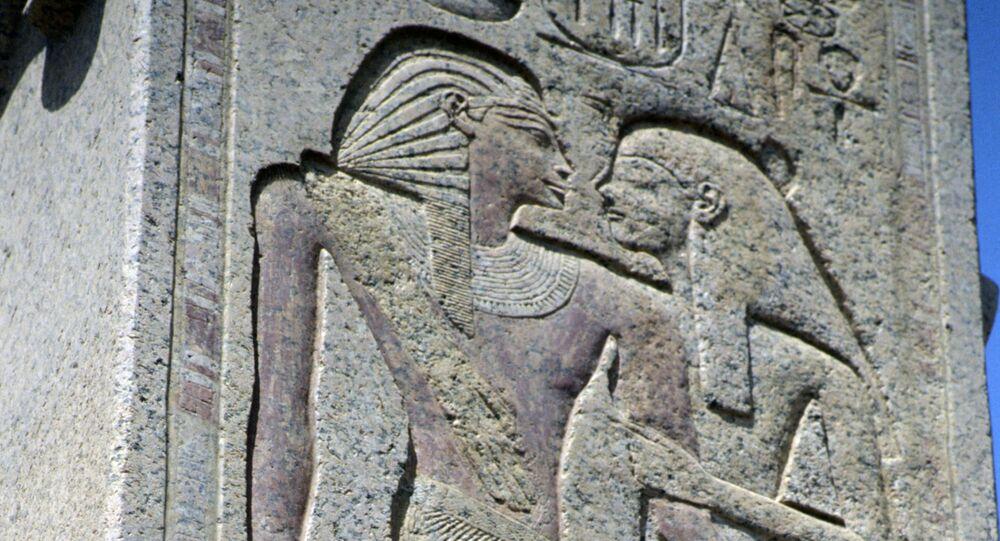 Une scène gravée dans le temple funéraire du pharaon Ramsès III (archive photo)