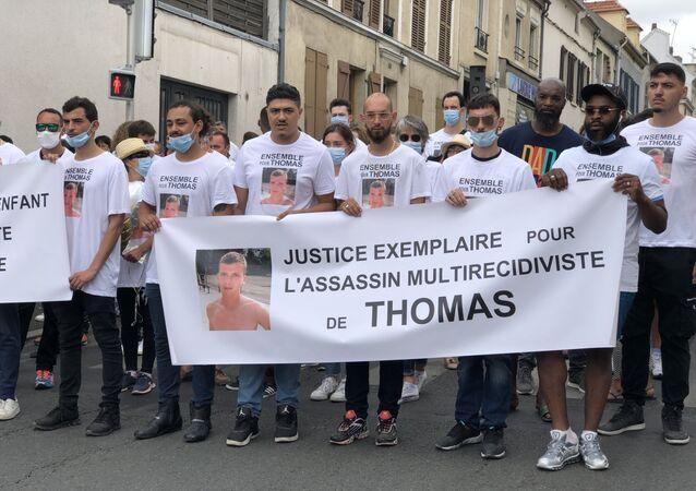 Marche blanche pour Thomas à Sarcelles