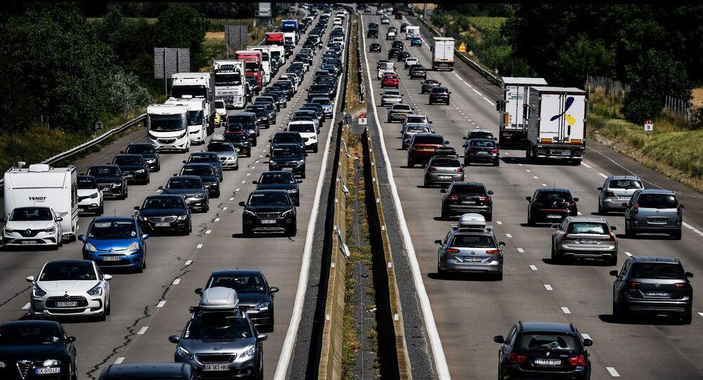 embouteillages en France, image d'illustration