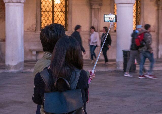 Planche à selfie, image d'illustration