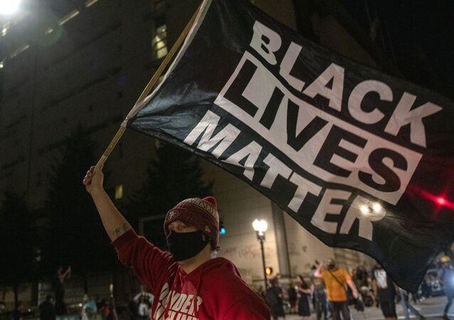 Manifestation contre le racisme à Portland