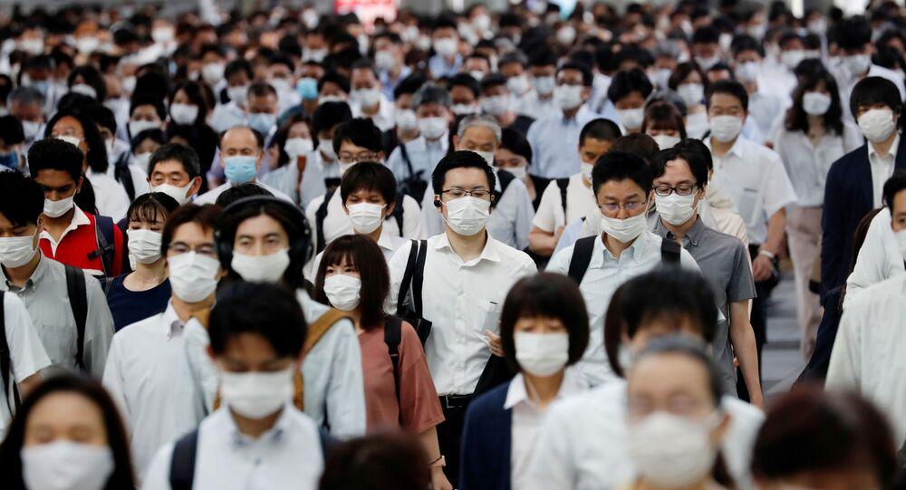 Une rue de Tokyo pendant la pandémie de Covid-19 (archive photo)