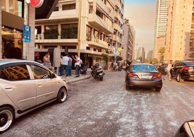 Beyrouth après l'explosion du 4 août 2020 (archive photo)