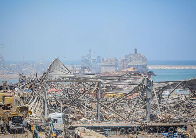 Beyrouth au lendemain de l'explosion de nitrate d'ammonium du 4 août 2020