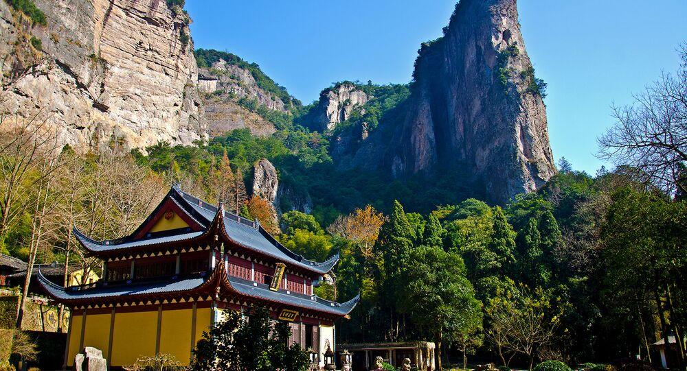 Un temple dans les montagnes de Yandang, dans la province chinoise de Zhejiang (archive photo)