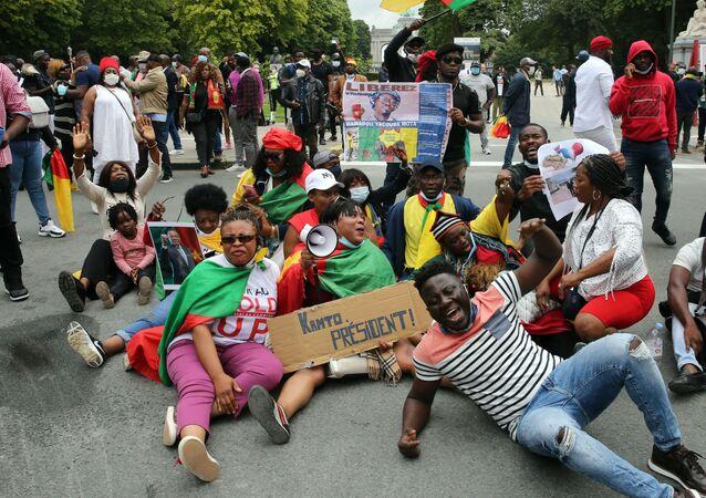 Manifestation de la diaspora camerounaise à Bruxelles
