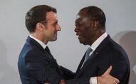 Les Présidents Emmanuel Macron et Alassane Ouattara