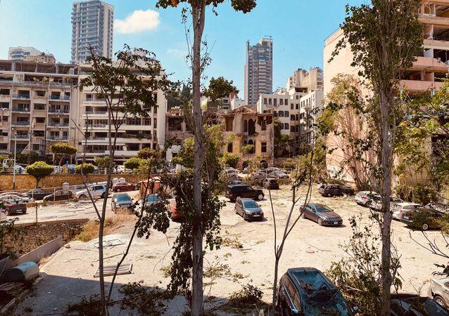Beyrouth au lendemain de l'explosion de nitrate d'ammonium dans le port (août 2020)