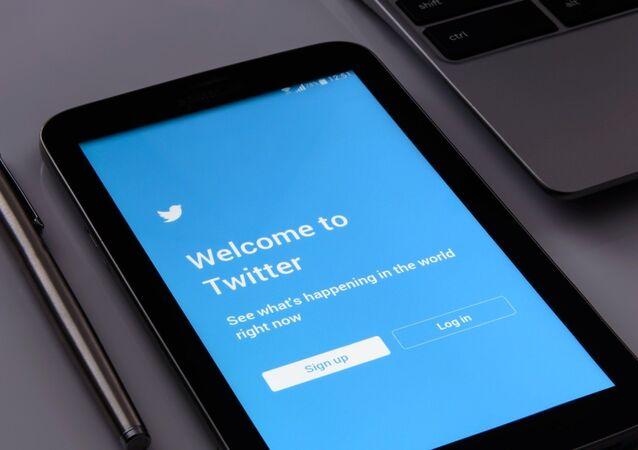 Page d'accueil de l'application du réseau social Twitter