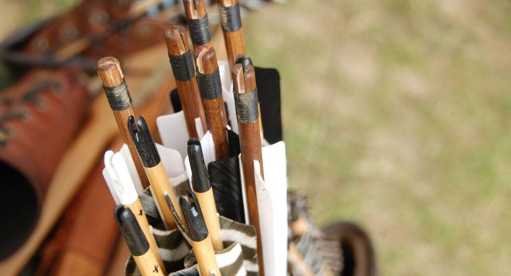 Des flèches pour l'arc de chasse