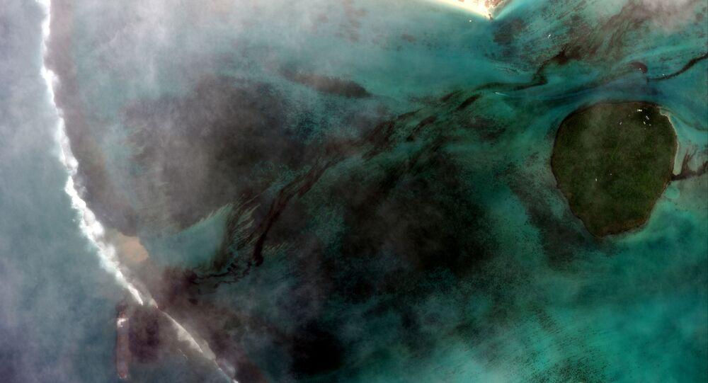 Une image satellite montrant la marée noire qui s'est formée
