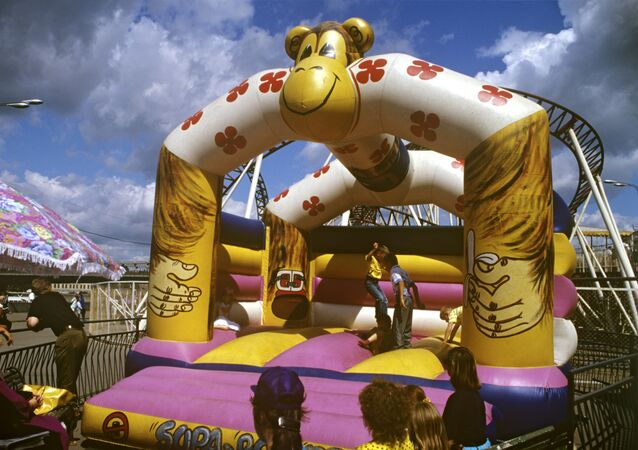 Une trampoline gonflable (image d'illustration)