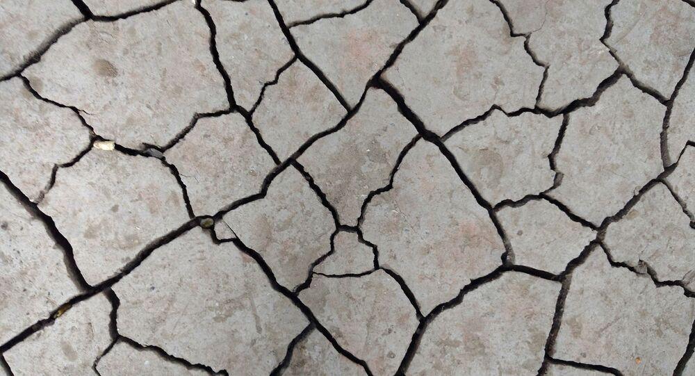 Des fissures dans la terre (image d'illustration)