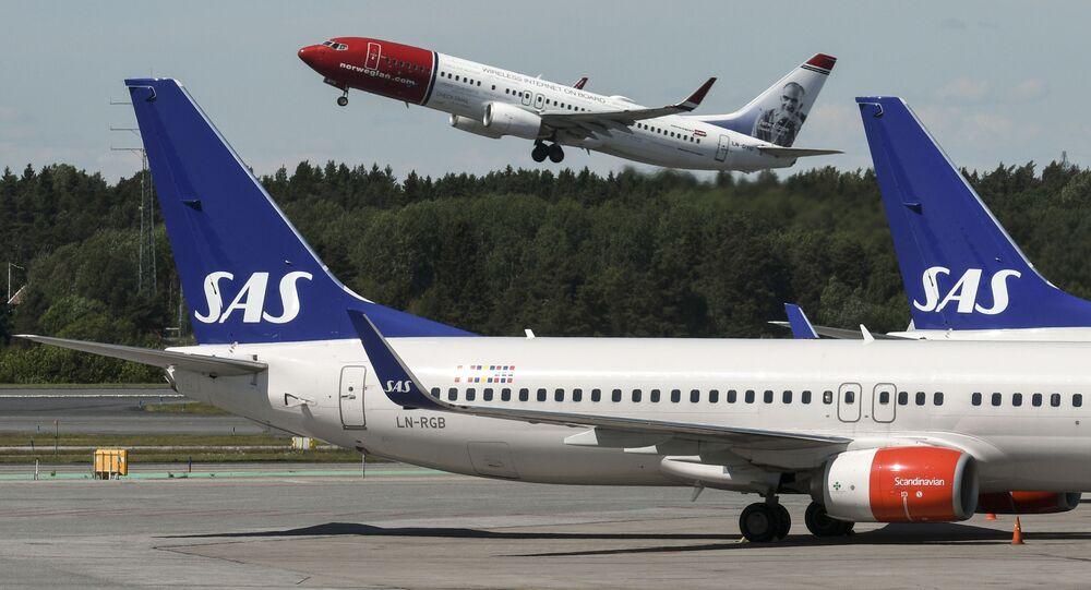 un Boeing 737 de SAS