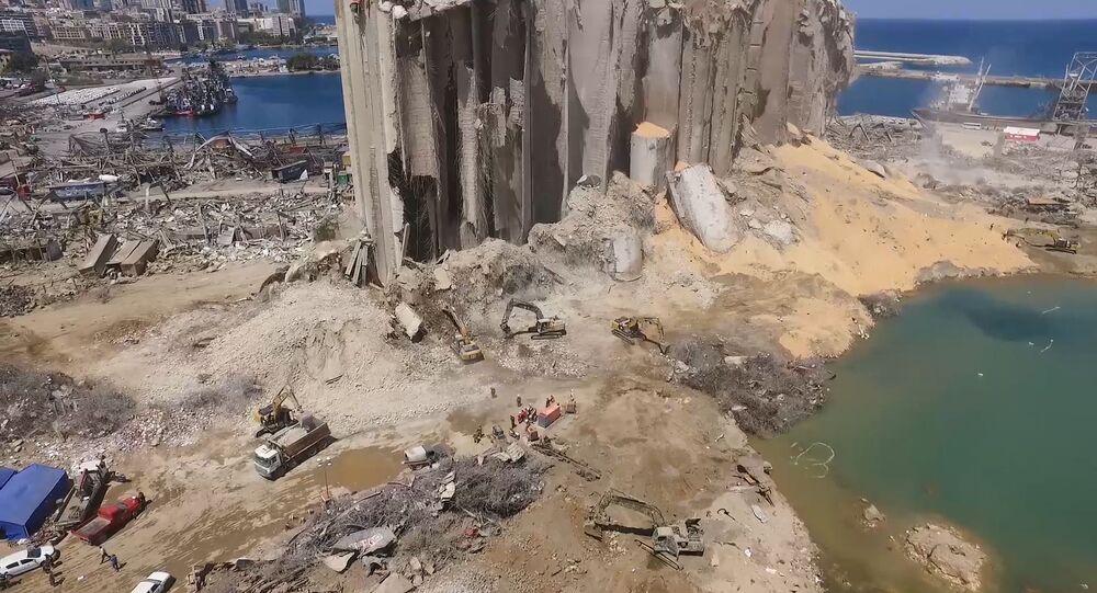 Le port de Beyrouth après l'explosion
