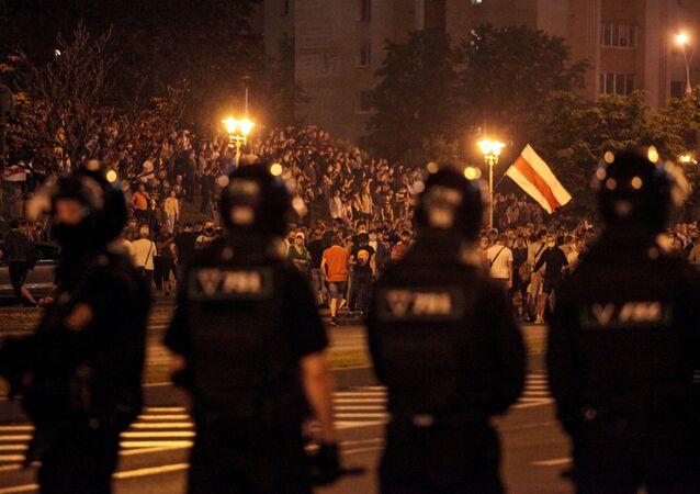 Nuit d'émeutes en Biélorussie à l'issue de la présidentielle